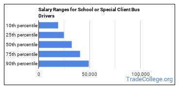 Salary Ranges for School or Special Client Bus Drivers