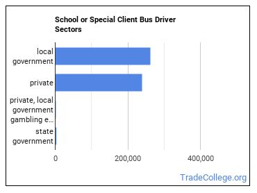 School or Special Client Bus Driver Sectors