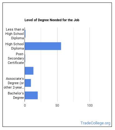Counter & Rental Clerk Degree Level