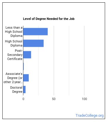 Cafeteria, Food Concession, or Counter Attendant Degree Level