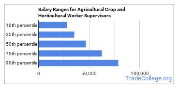 Salary Ranges for Agricultural Crop and Horticultural Worker Supervisors