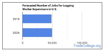 Forecasted Number of Jobs for Logging Worker Supervisors in U.S.