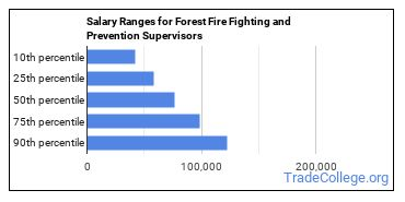 Salary Ranges for Forest Fire Fighting and Prevention Supervisors