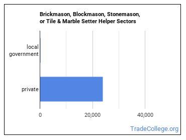 Brickmason, Blockmason, Stonemason, or Tile & Marble Setter Helper Sectors