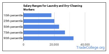 Salary Ranges for Laundry and Dry-Cleaning Workers