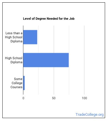 Light Truck or Delivery Services Driver Degree Level
