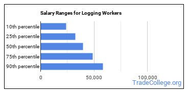 Salary Ranges for Logging Workers
