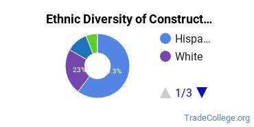 Construction Trades Majors in CA Ethnic Diversity Statistics