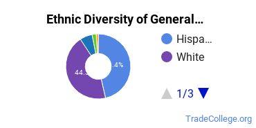 General Construction Trades Majors in CO Ethnic Diversity Statistics