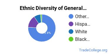 General Construction Trades Majors in HI Ethnic Diversity Statistics
