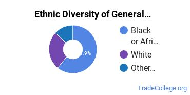 General Construction Trades Majors in MD Ethnic Diversity Statistics