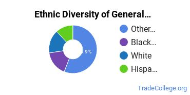 General Construction Trades Majors in NY Ethnic Diversity Statistics