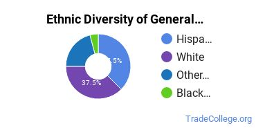 General Construction Trades Majors in WA Ethnic Diversity Statistics