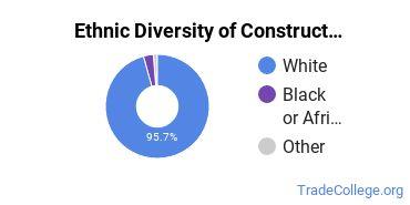 Construction Trades Majors in WV Ethnic Diversity Statistics