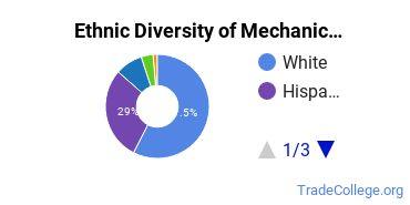 Mechanic & Repair Technologies Majors in CO Ethnic Diversity Statistics