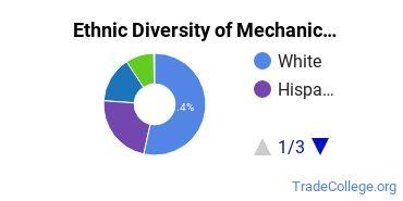 Mechanic & Repair Technologies Majors in CT Ethnic Diversity Statistics