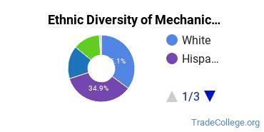 Mechanic & Repair Technologies Majors in FL Ethnic Diversity Statistics