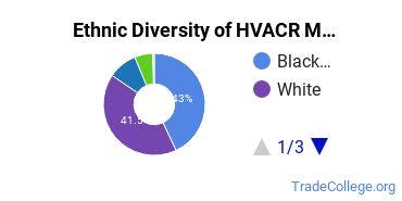 Heating, Ventilation, Air & Cooling Majors in VA Ethnic Diversity Statistics