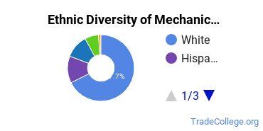 Mechanic & Repair Technologies Majors in NC Ethnic Diversity Statistics