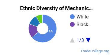Mechanic & Repair Technologies Majors in PA Ethnic Diversity Statistics