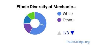 Mechanic & Repair Technologies Majors in RI Ethnic Diversity Statistics