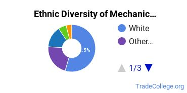Mechanic & Repair Technologies Majors in WA Ethnic Diversity Statistics