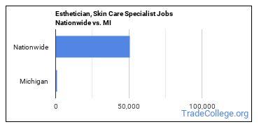 Esthetician, Skin Care Specialist Jobs Nationwide vs. MI
