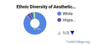 Esthetician, Skin Care Specialist Majors in NH Ethnic Diversity Statistics