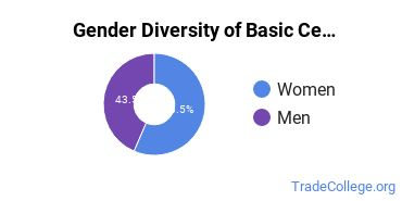Gender Diversity of Basic Certificates in Culinary Arts