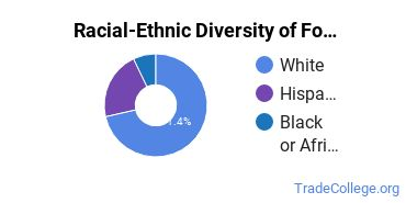 Racial-Ethnic Diversity of Food Preparation/Professional Cooking/Kitchen Assistant Students with Associate's Degrees