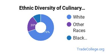 Culinary Arts Majors in ND Ethnic Diversity Statistics