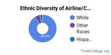 Airline Pilot & Flight Crew Majors in IL Ethnic Diversity Statistics