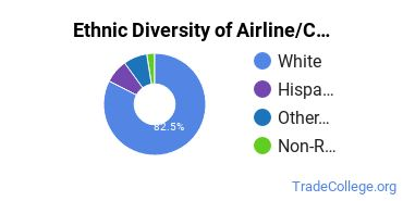 Airline Pilot & Flight Crew Majors in IN Ethnic Diversity Statistics