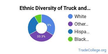 Truck & Bus Driver/Instructor Majors in AZ Ethnic Diversity Statistics