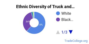 Truck & Bus Driver/Instructor Majors in AR Ethnic Diversity Statistics