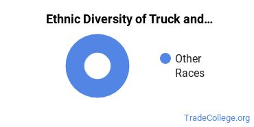 Truck & Bus Driver/Instructor Majors in MT Ethnic Diversity Statistics