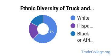 Truck & Bus Driver/Instructor Majors in NE Ethnic Diversity Statistics