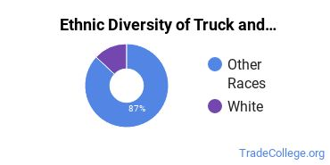 Truck & Bus Driver/Instructor Majors in ND Ethnic Diversity Statistics