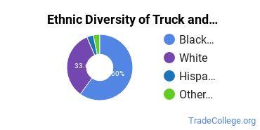 Truck & Bus Driver/Instructor Majors in VA Ethnic Diversity Statistics